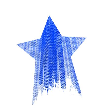 Star tire marks on a white background