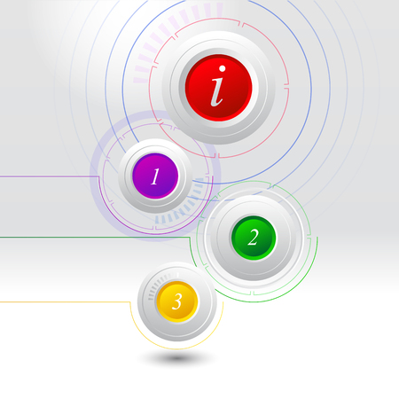 Abstract info graphics templates. Circles infographic.