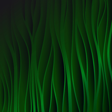 green texture: Green texture. Wavy background. Interior wall decoration. 3D Vector interior wall panel pattern. Vector green background of abstract waves.