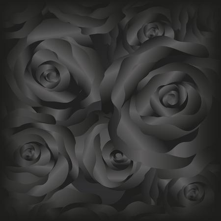 rosas negras: Vector rosas negras rosas background.Dark.