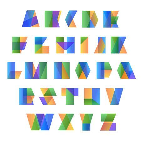 Vector Alphabet Set. Colorful alphabet.