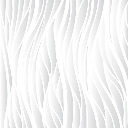 Texture blanche. Fond ondulé. Décoration murale intérieure. Modèle de panneau mural intérieur 3D vectoriel. Vector fond blanc d'ondes abstraites. Vecteurs