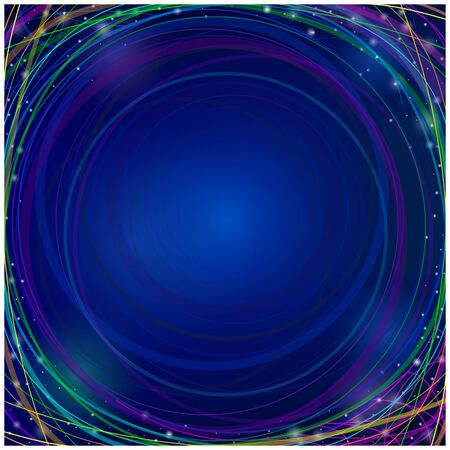 infinite: Moving colorful lines of abstract background. Perspective illustration. Infinite space. Illustration