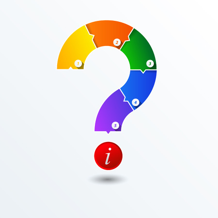 questionail: Vector Question mark business concepts with icons  can use for info graphic  loop business report or plan  education template Colorful brochure  system diagram Illustration