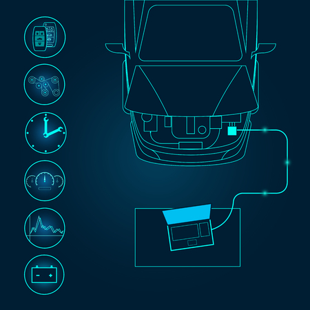 Automotive diagnostic repair icon. Vector illustration.