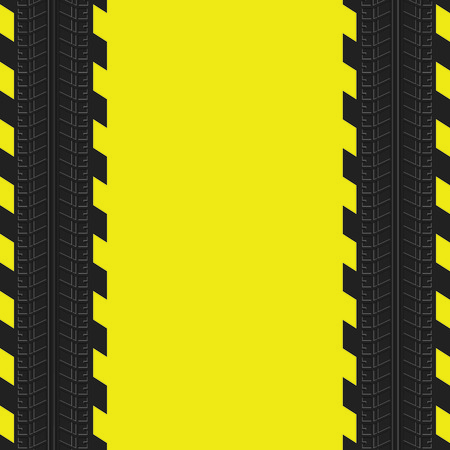 skid: Tire track background. Yellow auto background.