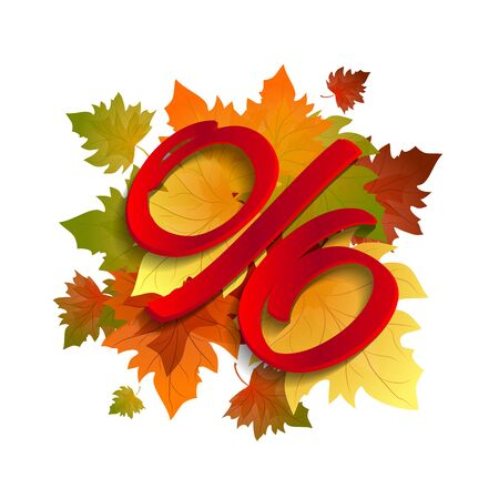 Autumn special sale. Offer withe poster vector background