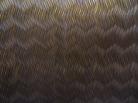 Background sheet of metal covered with lines, metal pattern, texture of copper