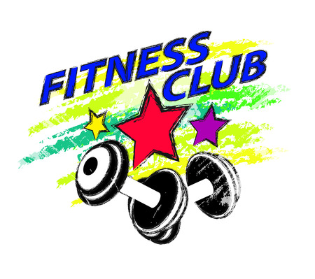 elite: sports and fitness club logo or icon Illustration