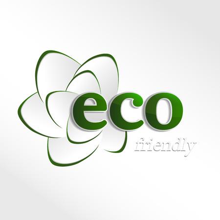 Eco logo, design template elements, natural icon, organic icon