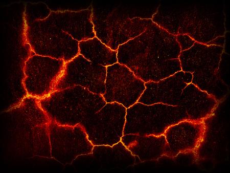 Lava crack ground mud textured