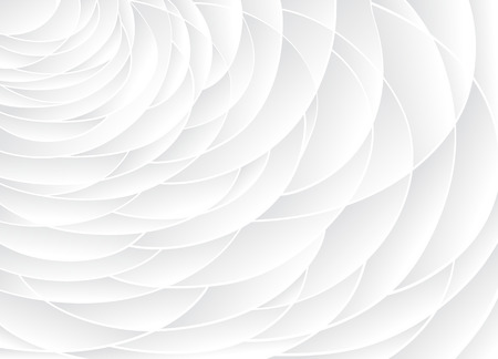 White texture. Wavy background. Interior wall decoration. 3D Vector interior wall panel pattern. Vector white background of abstract waves.