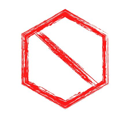 prohibitory sign, red isolated sign on white background
