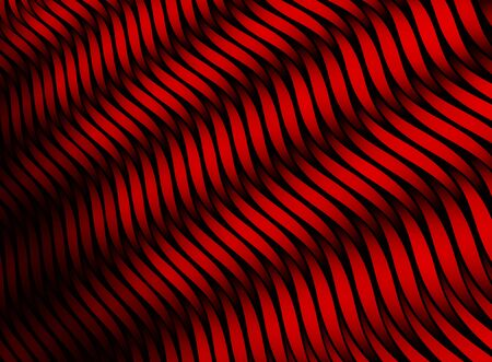 Abstract color stripes. 3D red texture. Red netting.