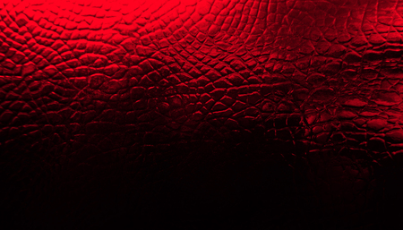 Crocodile leather texture background. Stock image. Red skin. Zdjęcie Seryjne