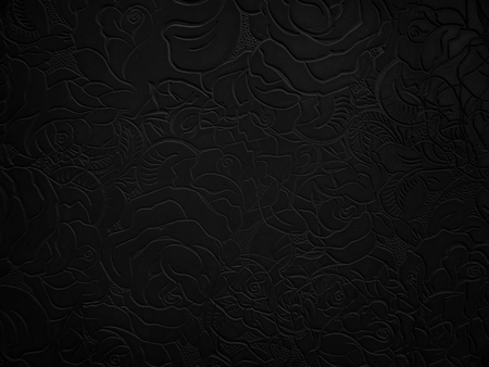 Abstract dark floral background. Black pattern.