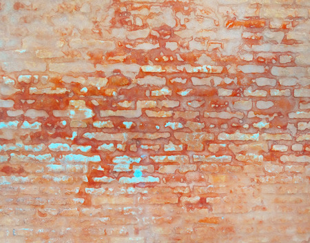 Background of brick wall texture. Colorful wall Stock Photo