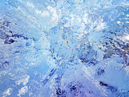 Colorful ice. Abstract ice texture. Nature background.                                  Stock Photo
