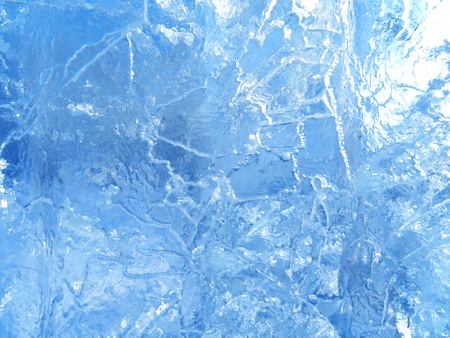 Colorful ice. Abstract ice texture. Nature background. Arctic ice.                                                                   Stock Photo