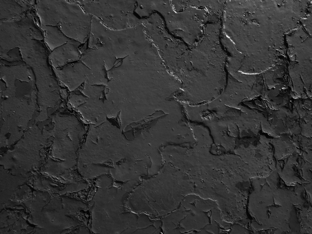 Crack and damage on painted texture in navy black tone.