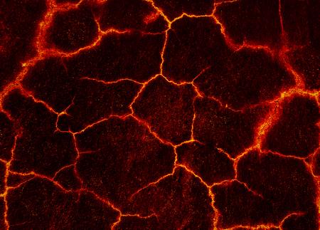 Fondo strutturato del fango al suolo della crepa della lava Lava
