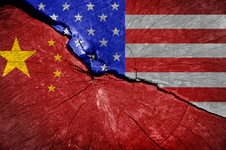 the conflict between the USA and China. The economic war between China and the U.S.