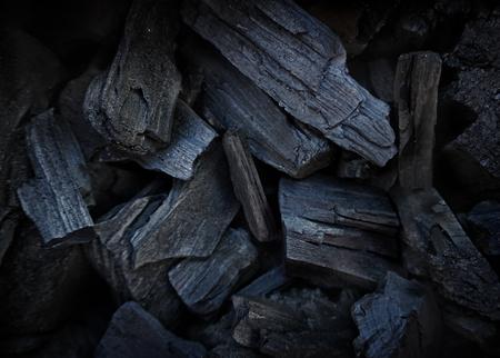 black charcoal background. Dark nature texture