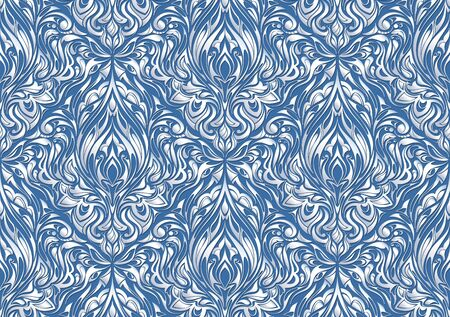 white abstract pattern. floral light  background. Blue background. 写真素材