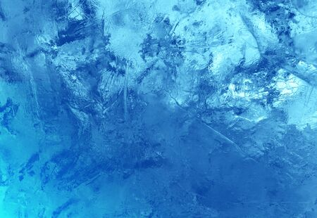 Pattern of transparent shiny ice. Natural bright background. Ice background.