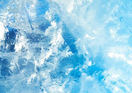 Abstract ice texture. Blue ice, arctic ice background.