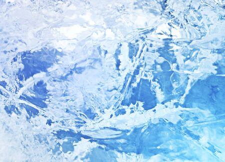 Struttura astratta del ghiaccio. Ghiaccio blu, fondo del ghiaccio artico.