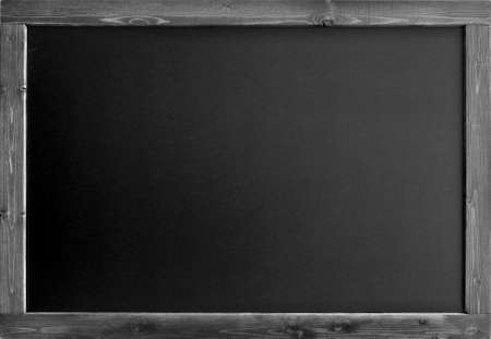blank writing board with wooden frame isolated