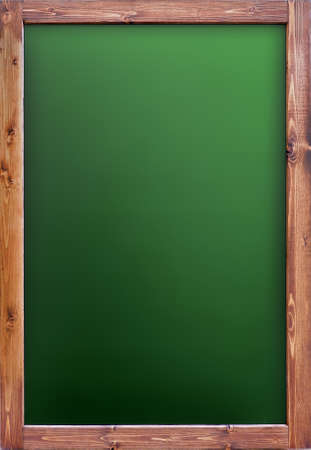 green blank writing board with wooden frame isolated