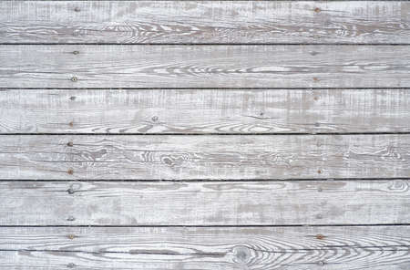 Old wooden background is made of white boards