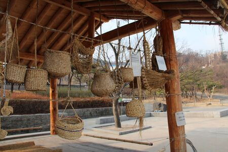 old items: Hanok village s old traditional items Stock Photo