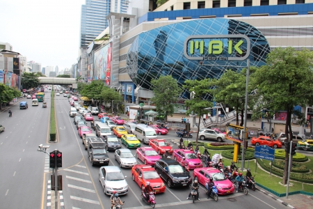 siam: BANGKOK, AUGUST 2012 - MBK Mall in Siam Square