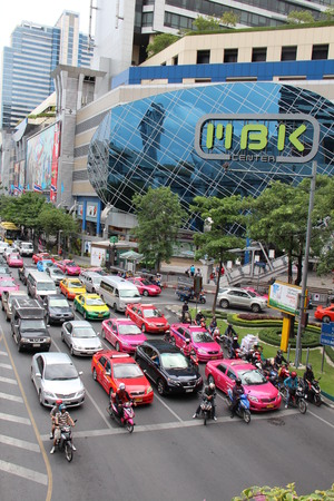 BANGKOK, AUGUST 2012 - MBK Mall in Siam Square
