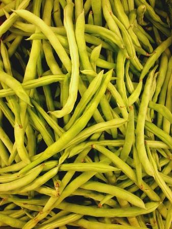 long beans: Green long beans