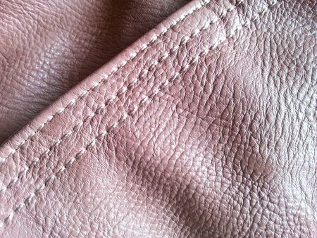 material: Pink leather texture Stock Photo