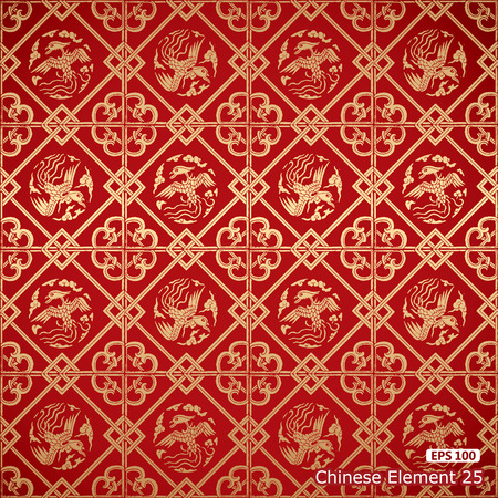 Seamless Chinese Vintage Damask wallpaper