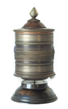 cylindrical: Isolated Prayer Wheel is rolling