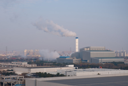 The waste incineration factory in Jiading district Shanghai
