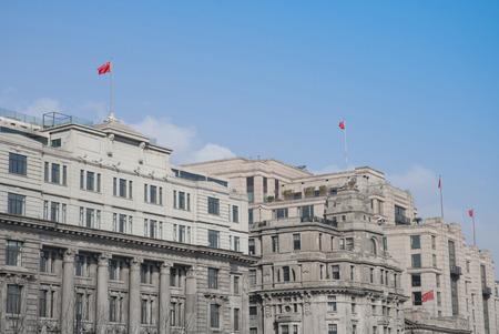 pilasters: old buildings of shanghai Editorial