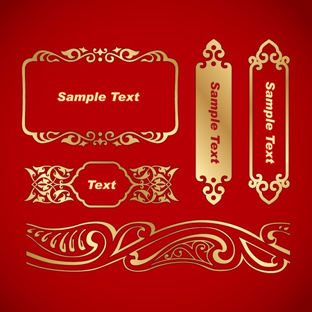 chinese new year element: Chinese Vintage Frame. Chinese traditional pattern.
