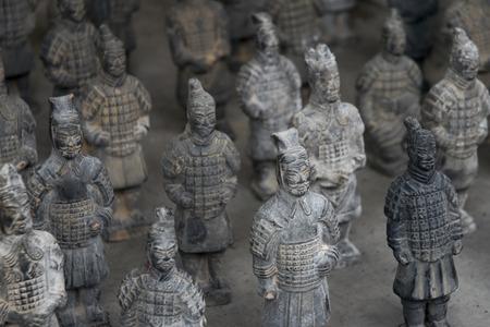 famous terracotta warriors of XiAn, China.  Editorial