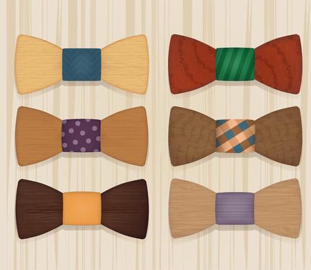 Set of wooden tie