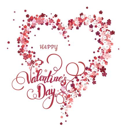 phalaenopsis: Beautiful floral heart. Valentine card. Vector illustration EPS10. Illustration