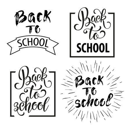 Back to school hand drawn lettering.