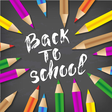 Back to school hand drawn lettering. Stock Vector - 83734637