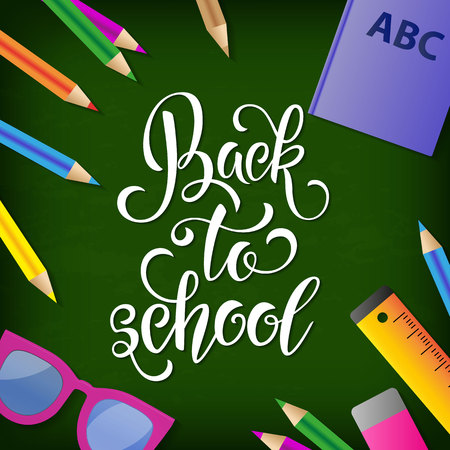 Back to school hand drawn lettering. Stock Vector - 83734659